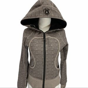 Lululemon Athletica Brown/Taupe Scuba Hoodie Size